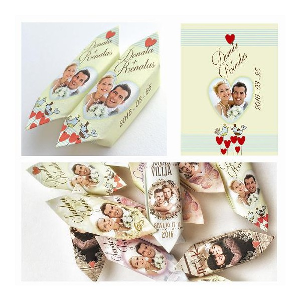 Vestuviniai saldainiai 100 vnt