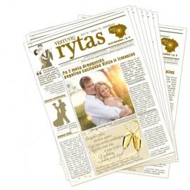 """Laikraštis """"Vestuvių rytas"""", ant puošnaus popieriaus, nuo 25 vnt."""