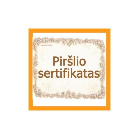 Piršlio sertifikatas