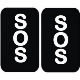 """Padų lipdukai """"SOS - SOS"""" Jaunajai arba Jaunikiui"""