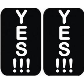 """Padų lipdukai """"YES!!! - YES!!!"""" Jaunajai arba Jaunikiui"""