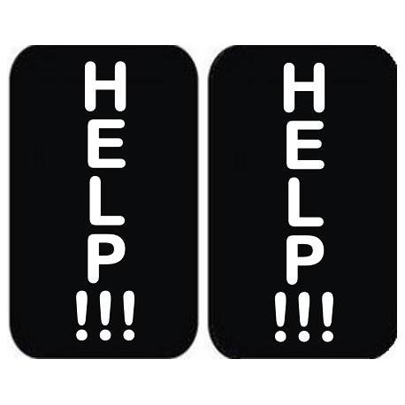 """Padų lipdukai """"HELP!!! - HELP!!!"""" Jaunajai arba Jaunikiui"""